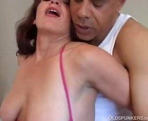 Naughty MILF fucks a lucky guy