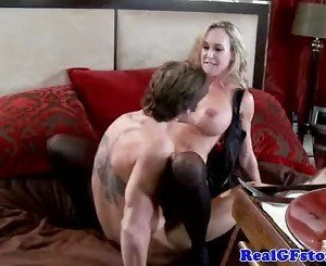 Busty blonde MILF housewife fucked hard