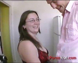 chubby milf with glasses  gets anal