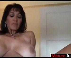Find her on MATURE-FUCKS.COM - Mature MILF with hairy bush gets cream