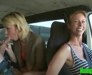 Hot Blonde Milf Sucks Dick on the HumpBus - HumpBus.com