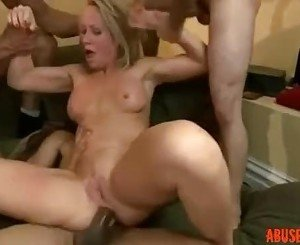 Sweet MILF in a Rough Double Anal Gangbang: Free HD Porn anal - abuserporn.com