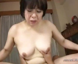 Busty Mature Woman Getting Her Tits And Hairy Pussy Fucked By Guy Cum To Mouth O
