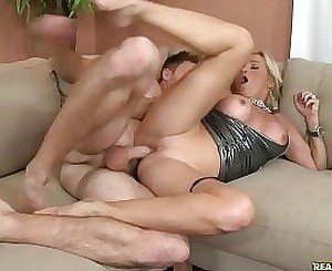 MILF keeps cumming again and again during cock-riding